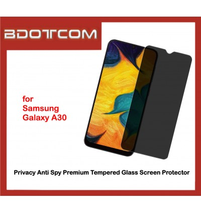 Privacy Anti Spy Premium Tempered Glass Screen Protector for Samsung Galaxy A30