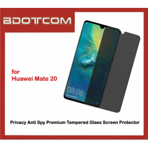 Privacy Anti Spy Premium Tempered Glass Screen Protector for Huawei Mate 20