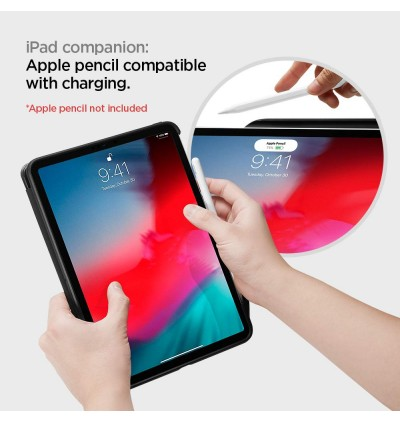 "Original Spigen Smart Fold 2 Protective Case with Pencil Holder for Apple iPad Pro 12.9"" (2018)"