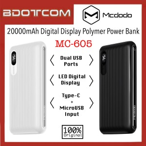 Mcdodo MC-605 20000mAh LED Digital Display Polymer Power Bank