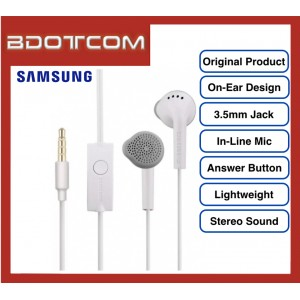 Original Samsung On-Ear Stereo Handsfree with Built In Microphone for Samsung Galaxy Tab S4, Tab S5E, Note 9, Note 8, Note FE, S10, S10+, S10E, S9, S9+