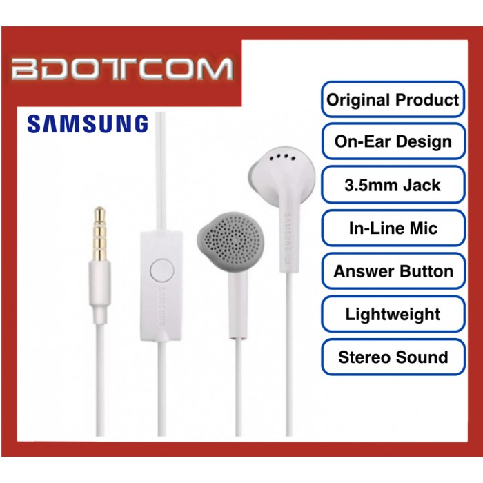 Original Samsung On-Ear Stereo Handsfree with Built In