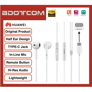 Original Huawei Classic Earphones TYPE-C Edition with Built in Microphones for Huawei P20, P20 Pro, Mate 10, Mate 10 Pro, Mate 20, Mate 20X, Mate 20 Pro, P30, P30 Pro