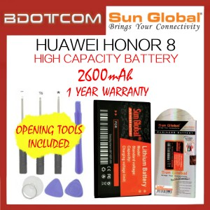 Huawei Honor 8 Sun Global 2600mAh High Capacity Battery with Tools