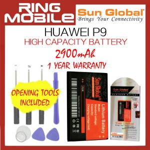 Huawei P9 Sun Global 2900mAh High Capacity Battery with Tools