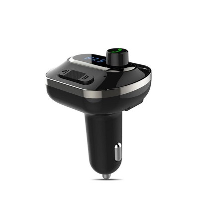 T19 Car Charger MP3 Player FM Transmitter with Bluetooth Dual USB Ports Micro SD Slot and Auxiliary Port