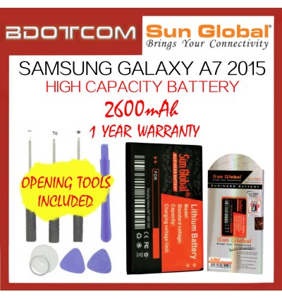 Samsung Galaxy A7 2015 Sun Global 2600mAh High Capacity Battery with Tools