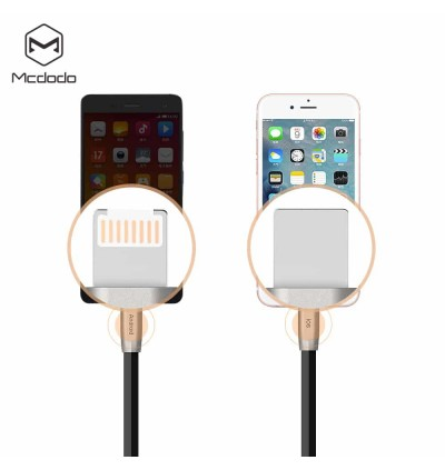 Mcdodo CA-228 1M ZN-LINK 2 in 1 Connector Data Cable for MicroUSB & iP Devices