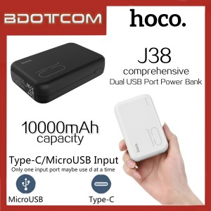Hoco J38 Comprehensive series 10000mAh Dual USB Port Power Bank