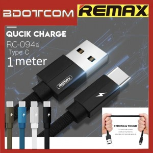 Original Remax RC-094a Kerolla series Type-C Fast Charge Cable For Samsung / Huawei / Xiaomi / Oppo / Vivo / Realme