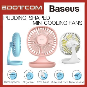 Baseus Pudding Shaped Speeds Adjustable Mini Cooling Fan