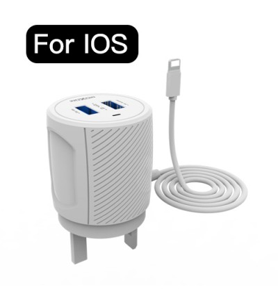 Moxom KH-54 Portable Travel 2.4A Dual USB Ports Fast Charge Wired Charger with MicroUSB Cable