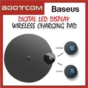 Baseus Digital LED Display Qi Wireless Charging Pad Wireless Charger
