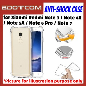 Anti-Shock Drop Proof Protective Case for Xiaomi Redmi Note 3 / Note 4X / Note 5A / Note 6 Pro / Note 7