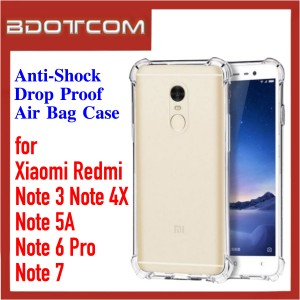 Anti-Shock Drop Proof Air Bag Case for Xiaomi Redmi Note 3 / Note 4X / Note 5A / Note 6 Pro / Note 7