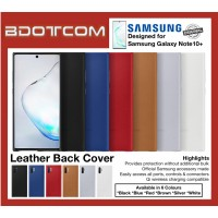 Original Samsung Leather Back Cover for Samsung Galaxy Note10+ Note 10 Plus