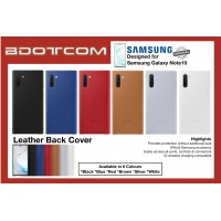 Original Samsung Leather Back Cover for Samsung Galaxy Note10 Note 10