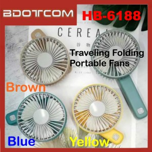 24 Natural Wind HB-6188 Traveling Mini 90 Degrees Hand Cooling Folding Portable Fans