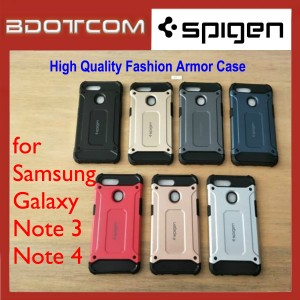 High Quality Spigen Fashion Armor Case for Samsung Galaxy Note 3 / Note 4