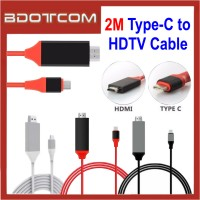 2M Type C to HDMI USB 3.1 Ultra HD 1080P 4k Charging HDTV Video Cable Adapter Converter