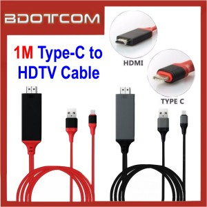 1M Type C to HDMI USB 3.1 Ultra HD 1080P 4k Charging HDTV Video Cable Adapter Converter
