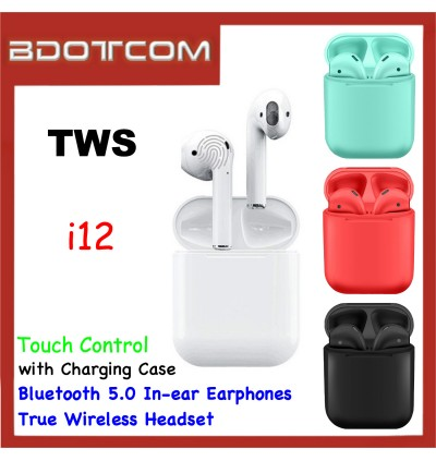 TWS i12 Bluetooth 5.0 Touch Control In-ear Earphones True Wireless Headset with Charging Case