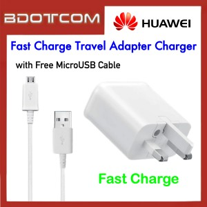 Huawei Fast Charge Travel Adapter Charger with MicroUSB Cable for Huawei Y5 / Y6 / Y7 / Y7 Pro / Y7 Prime / Y9