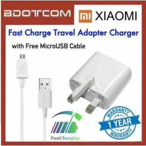 Xiaomi Fast Charge Travel Adapter Charger with MicroUSB Cable for Redmi 3 / Redmi 3 Pro / Redmi 4A / Redmi 5 / Redmi 5A / Mi Max / Redmi Note 4X