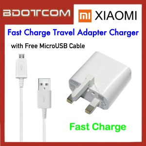 Xiaomi Fast Charge Travel Adapter Charger with MicroUSB Cable for Redmi 3 / Redmi 3 Pro / Redmi 4A / Redmi 5 / Redmi 5A / Mi Max / Redmi Note 4X