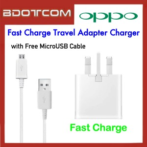 Oppo Fast Charge Travel Adapter Charger with MicroUSB Cable for Oppo F11 Pro / F11 / A37 / F1s / A3s / A9 / F7