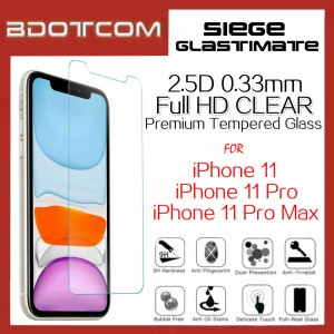 Siege Glastimate 2.5D Premium Full HD CLEAR Tempered Glass for iPhone 11 / iPhone 11 Pro / iPhone 11 Pro Max