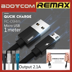 Original Remax RC-094m Kerolla series 1 meter MicroUSB Fast Charge Cable For Samsung / Huawei / Xiaomi / Oppo / Vivo / Realme