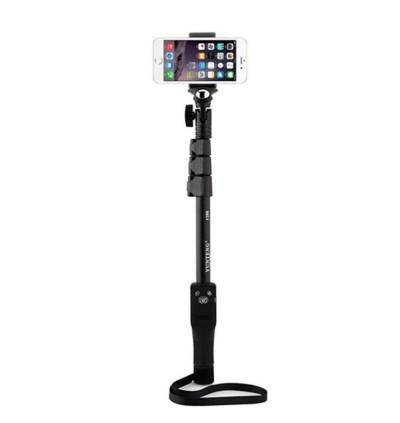 Original Yunteng YT-1288 Bluetooth Wireless Selfie Stick Monopod with Phone Holder Clip & Bluetooth Remote Control for Smartphone / Camera