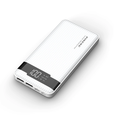 Pineng PN-961 LED Display 10000mAh Quick Charge 3.0 Dual USB Ports + 3 Input  Lithium Polymer Power Bank