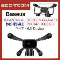 Baseus Horizontal Screen Gravity Vehicle-Mounted In Car Mount Phone Holder for 4.7' - 6.5' Device For Toyota / Honda / Mazda / Proton / Perodua, BMW / Benz Mercedes / Hyundai / Nissan / Audi / Volvo / Volkswagen / Lexus / Kia / Suzuki / Ford / Mitsubishi