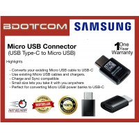 Original Samsung Micro USB Connector (USB Type-C to Micro USB) for Samsung Galaxy Tab S4, Tab S5E, Tab S6, Note10, Note 10 Plus, Note 9, Note 8, S10, S10+, S10E