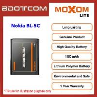 [1 Year Warranty] Original Moxom Lite High Capacity 1150 mAh Battery for Nokia BL-5C