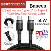 Baseus Cafule series PD2.0 Quick Charge 60W QC3.0 Type-C to Type-C Flash Charge Data Cable for Macbook Air, Macbook Pro, Huawei P20, P20 Pro Mate 10, Mate 10 Pro, Mate 20, Mate 20X, Mate 20 Pro, P30, P30 Pro