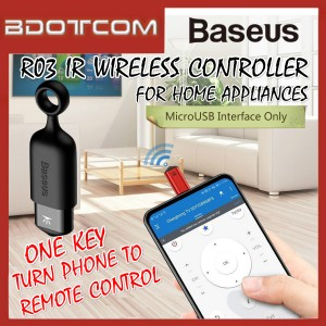 Baseus R03 Universal SmartPhone IR Wireless Controller MircoUSB One-Key Remote Control for Home Appliances