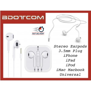 Stereo Earpods with Mic and Volume Control for Apple iPhone 2G, 3G, 3Gs, 4, 4s, 5, 5s 5c SE, 6, 6 Plus, 6s, 6s Plus