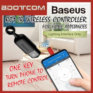 Baseus R01 Universal SmartPhone IR Wireless Controller 8 Pin Lightning One-Key Remote Control for Home Appliances