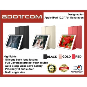 "Smart Fold Multi Angle PU Leather Cover Protective Case with Sleep Wake Function for Apple iPad 10.2"" 7th Generation"