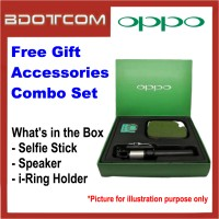 Oppo Free Gift Accessories Combo Set with Selfie Stick + Speaker + i-Ring Phone Holder for Oppo Find 7 / R11 / R9 /  R7 / A57 / A59 / A53 / A51