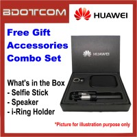 Huawei Free Gift Accessories Combo Set with Selfie Stick + Speaker + i-Ring Phone Holder for Huawei P20, P20 Pro Mate 10, Mate 10 Pro, Mate 20, Mate 20X, Mate 20 Pro, P30, P30 Pro, Mate 30 Pro