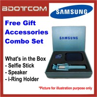 Samsung Free Gift Accessories Combo Set with Selfie Stick + Speaker + i-Ring Phone Holder for Galaxy S8 / S8+ / S9 / S9+ / S10 / S10+ / Note 8 / Note 9 / Note 10 / Note 10+