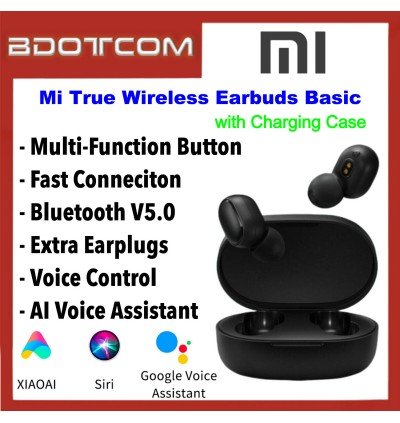 Xiaomi Redmi AirDots Mi True Wireless Earbuds Basic Bluetooth V5.0 In-ear Earphones Wireless Headset with Charging Case