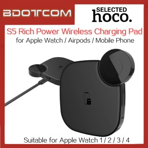 Hoco S5 Rich Power Qi Wireless Charging Pad 2 In 1 Wireless Charger for Apple Watch & Mobile Phone