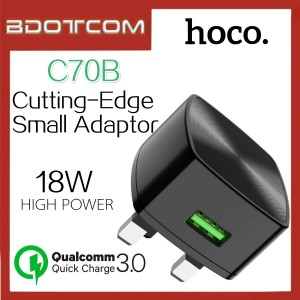 Hoco C70B Cutting-Edge QC3.0 18W Quick Charge Wall Smart Adaptor