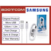 Original Samsung Fast Charging Micro USB Sync & Charge Cable 120cm for Samsung Galaxy Note 5, Note 4, Note 3, Note 3 Neo, Note 2, S7 Edge, S6 Edge Plus, S5, S4, S3, S2, J7, J5, J3, J2, J1, A7, A5, A3