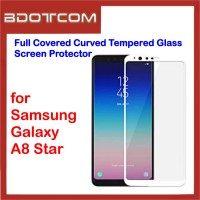 Full Covered Tempered Glass Screen Protector for Samsung Galaxy A8 Star (White)